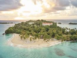 Vue aérienne de la magnifique île