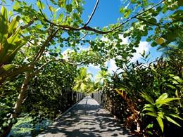 Le Maitai Lapita Village est situé au beau milieu d'un jardin tropical.