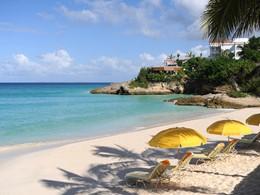 La plage de l'hôtel Malliouhana à Anguilla
