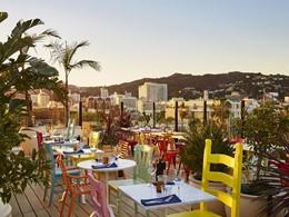 Dégustez un somptueux repas face à la ville de Los Angeles au Mama Shelter