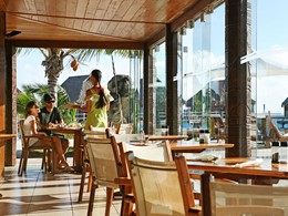 Le restaurant Matiehani du Manava Beach Resort à Moorea