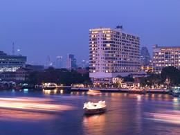 Vue du Mandarin Oriental Bangkok