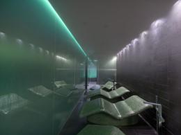 Bain de vapeur au spa du Mandarin Oriental Barcelone