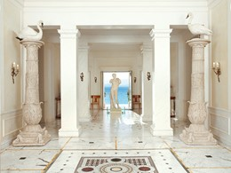 Le lobby du Mandola Rosa, une adresse d'exception