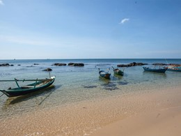La plage de l'hôtel Mango Bay au Vietnam