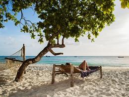 Détente sur la superbe plage