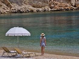 Balade sur la plage du Marpunta situé en Grèce