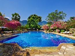 La piscine du Matahari Beach Resort à Bali