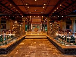 Le lobby de l'hôtel Matahari Beach Resort à Bali