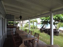 L'espace commun du Moorea Beach Lodge