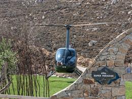 Service d'hélicoptère à l'hôtel