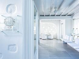 La réception de l'hôtel 4 étoiles Mykonos Ammos