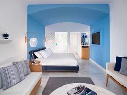 Chambre Premium de l'hôtel Mykonos Grand en Grèce