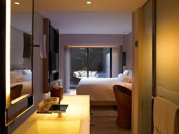 Patio Room de l'hôtel Naumi en plein centre de Singapour