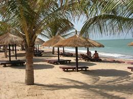 Vue de la plage Neptune situé en plein coeur de Saly au Senegal