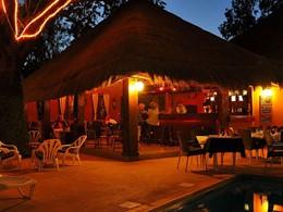 Le bar de l'hôtel Neptune au Senegal