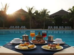 Le petit déjeuner de l'hôtel Neptune situé au Senegal