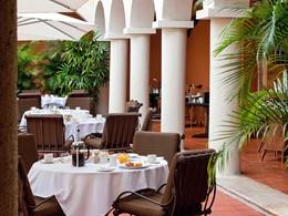 Autre vue du restaurant de l'hôtel 5 étoiles Nicolas de Ovando