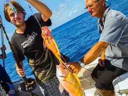 Pêche à l'hôtel Ninamu Resort situé à Tikehau