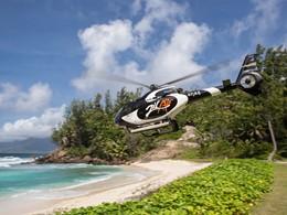Arrivé en hélicoptère