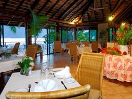 Le restaurant du Keikahanui Pearl Lodge Nuku Hiva sur les Iles Marquises