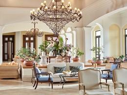 Le lobby de l'hôtel Olympia Oasis au Péloponnèse