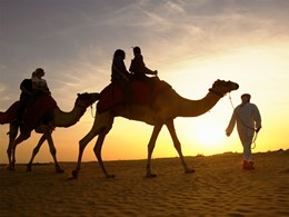 Balade à dos de chameau au Royal Mirage Residence