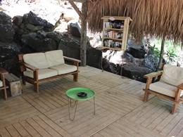 Coin lecture d'Otentic Eco Tent à l'île Maurice