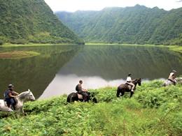 Équitation à travers la nature sauvage de la Réunion