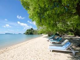 La plage de l'hôtel Paradise Koh Yao Boutique Beach Resort