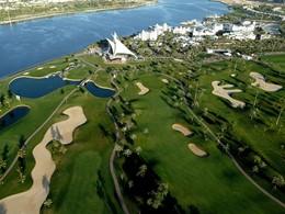 Vue aérienne du golf et de l'hôtel Park Hyatt