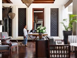 Le lobby de l'hôtel Park Hyatt Siem Reap situé au Cambodge