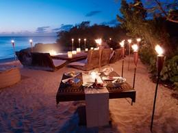 Barbecue sur la plage du Parrot Cay & Como Shambala