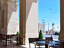 Splendide vue sur la capitale portugaise depuis la terrasse