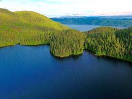 Vue sur le parc marin du Saguenay depuis le Cap Au Leste