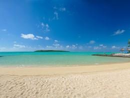 La plage du Preskil, situé sur la péninsule privée de Pointe Jérôme
