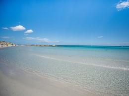 Plage de sable blanc