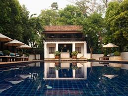 La piscine de l'hôtel Rachamankha en Thailande