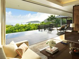 Two Bedroom Ocean View Pool Villa du Raffles Praslin