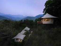 Tentes de luxe au cœur de la végétation