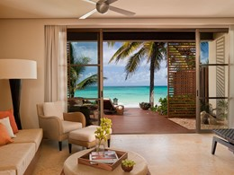 Beachside Lagoon Suite du Rosewood Mayakoba au Mexique