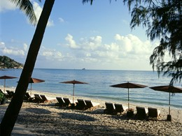 La plage de Choeng Mon du Sala Samui Resort & Spa