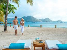 Balade sur la plage du Sandals Grande St. Lucian