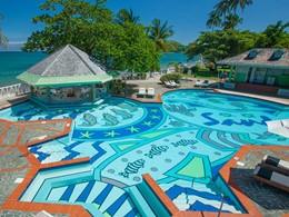 La piscine du Sandals Halcyon Beach à Sainte-Lucie