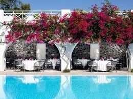 Restaurant du Santorini Kastelli Resort en Grèce