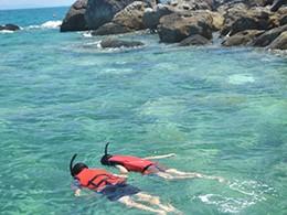 Snorkeling autour de l'île