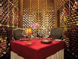 Cave à vin du restaurant Bordeaux du Secrets Maroma