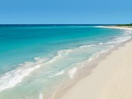 La plage de l'hôtel Secrets Maroma au Mexique