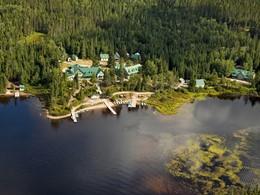 Vue aérienne de La Seigneurie du Triton au Canada