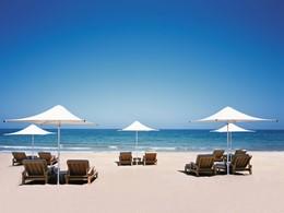 La plage de l'hôtel Shangri-La Al Bandar à Oman
